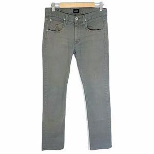 Hudson Byron 5 Pocket Straight Gray Jeans, Size 31